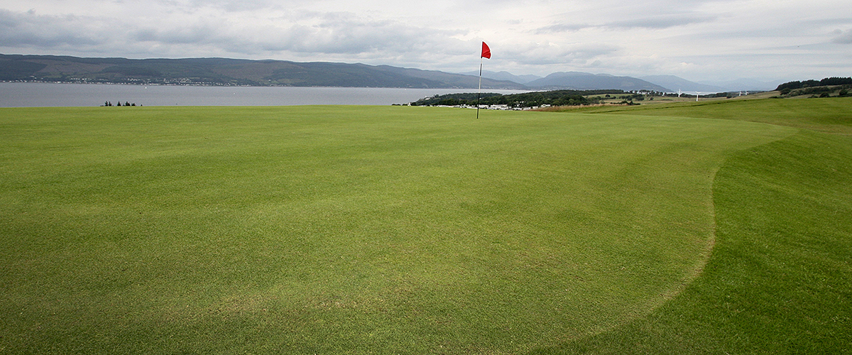 The lovely but tricky to hold 14th green.