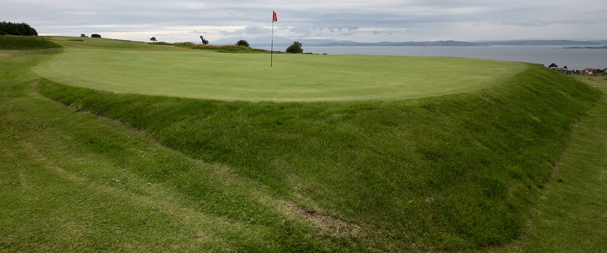 From behind the green at the stroke index 1 - 15th hole
