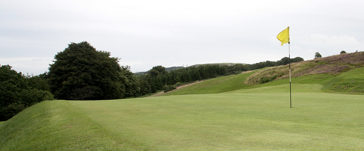 The early test of the par 3 - 3rd hole looking back at the tee.