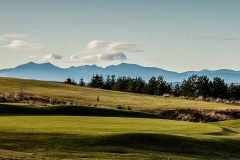 The 11th green from the tee with the island of Arran as the backdrop.