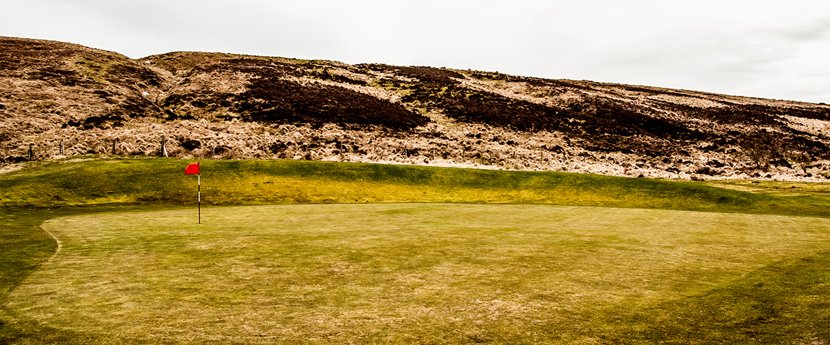 From the side of the 10th tee during the winter months.