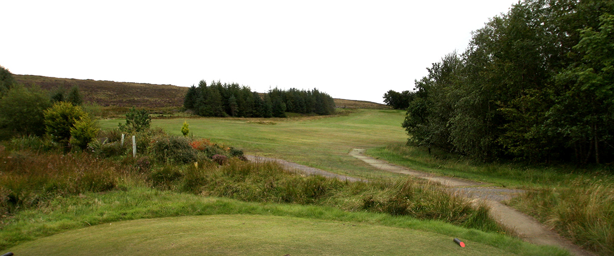Looking up the 6th fairway from the tee.