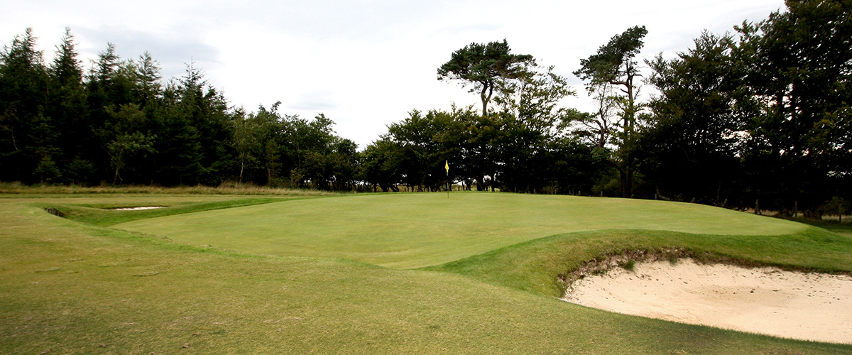 The front right of the 7th green.