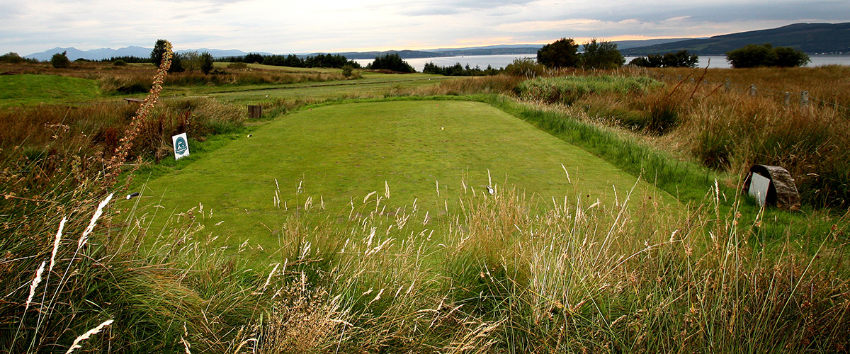 The teeing ground for the 11th hole.