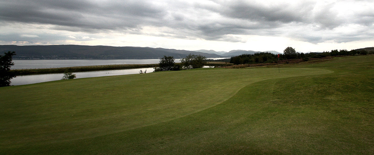 Looking north through the 13th green.