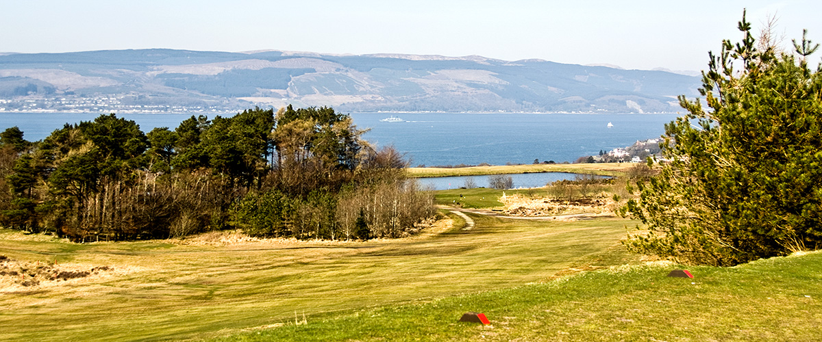 Looking back down the 6th fairway from the 7th tee.