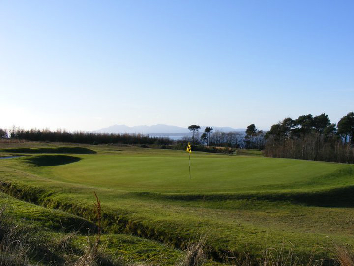 8th Green with Wonderful Blue Skies