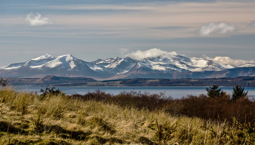 A Snow Covered Island of Arran