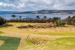 The challenging par 3 - 7th hole from the tee.