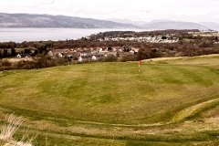 The 17th Hole from slightly behind the green during the winter season.
