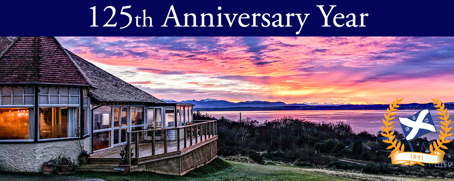 Sunset Image of Clubhouse with 125th Anniversary Year